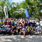 大阪城公園にてランニング教室の合同練習に参加
